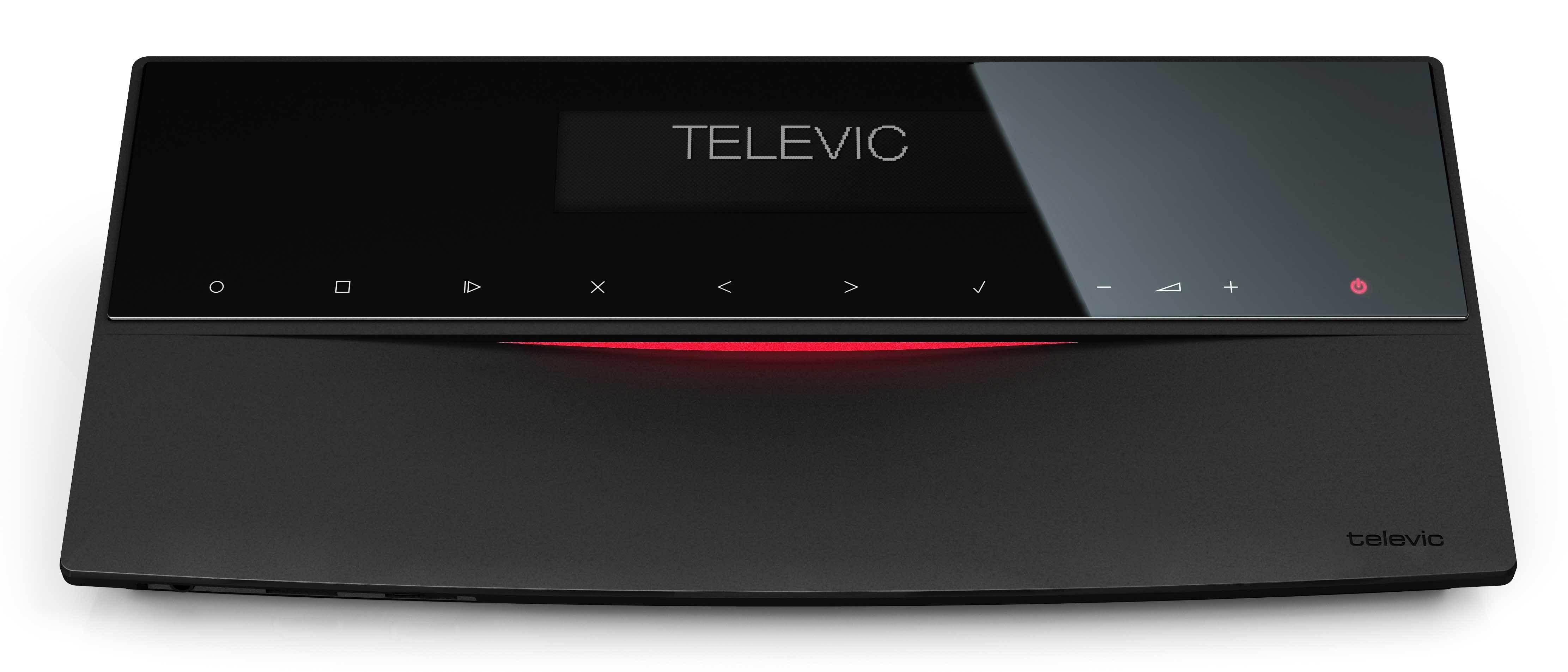 Televic D-Cerno - نمای مقابل سیستم کنفرانس دیجیتال لمسی تلویک با قابلیت اتو ترکینگ